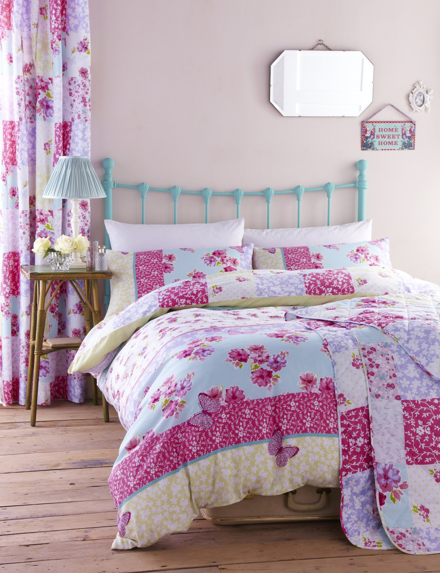 catherine lansfield gypsy patchwork duvet cover set  double
