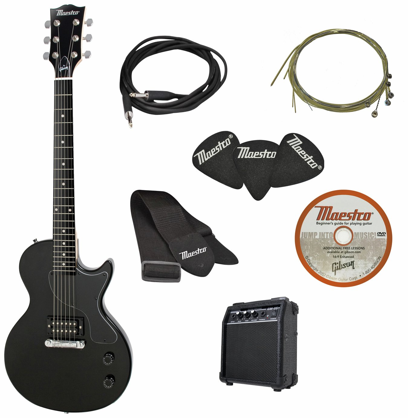 Maestro by Gibson Electric Guitar with Amp Pack - Black