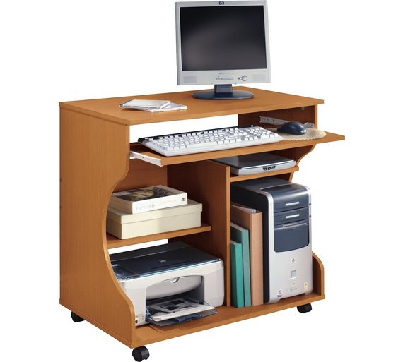 Buy HOME Curved Computer Desk Trolley - Pine Effect at Argos.co.uk ...
