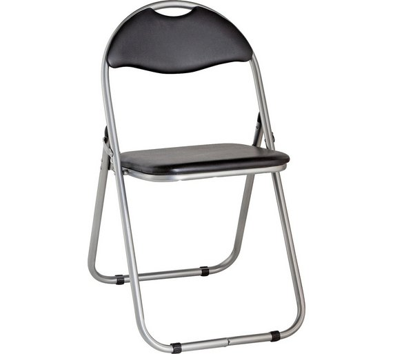 buy argos home padded folding office chair black office chairs argos. Black Bedroom Furniture Sets. Home Design Ideas