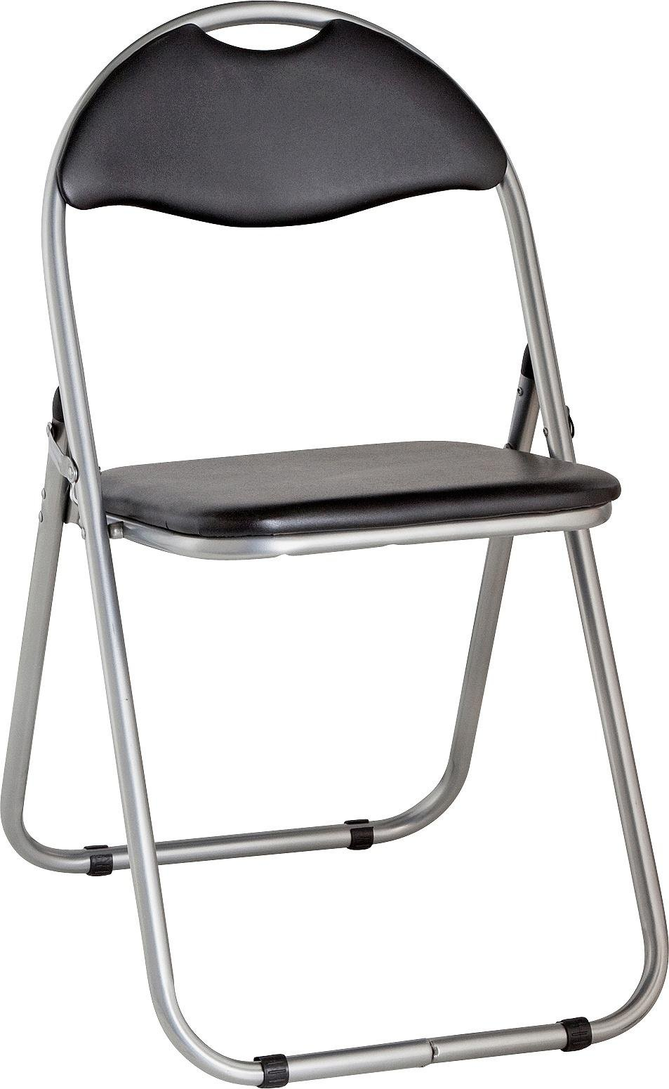Buy Padded Folding Office Chair Black at Argoscouk Your