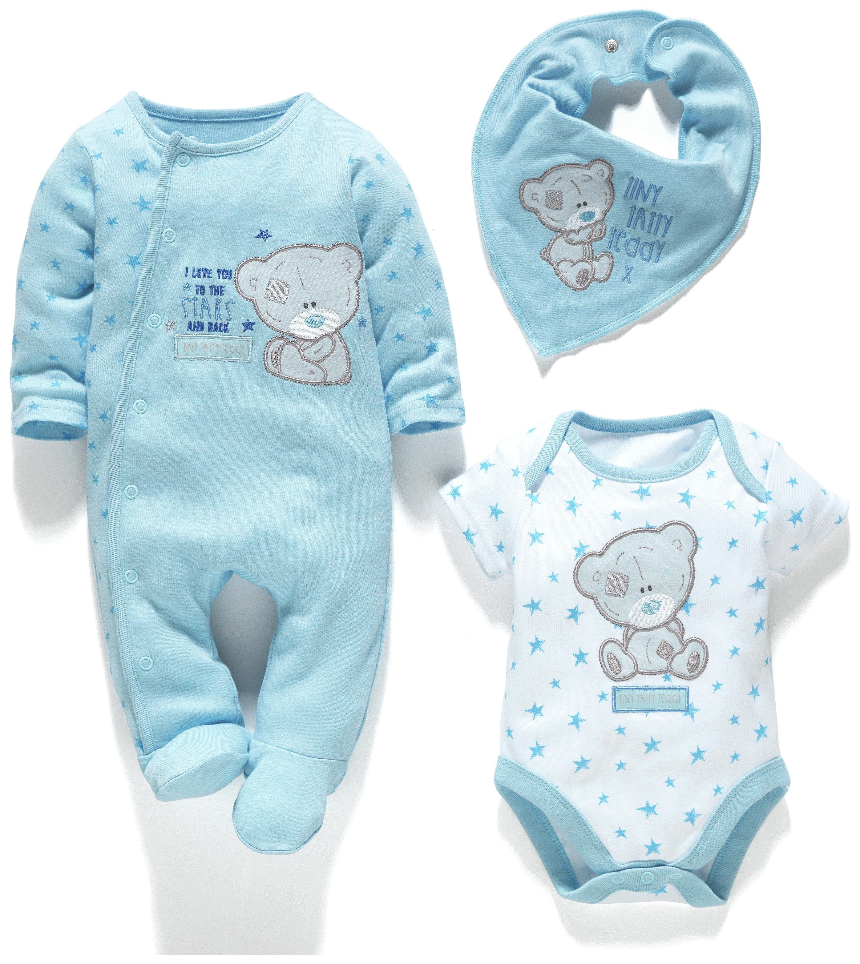 Image of Carte Blanch Baby Tatty Teddy Gift Set Blue - 3-6 Months