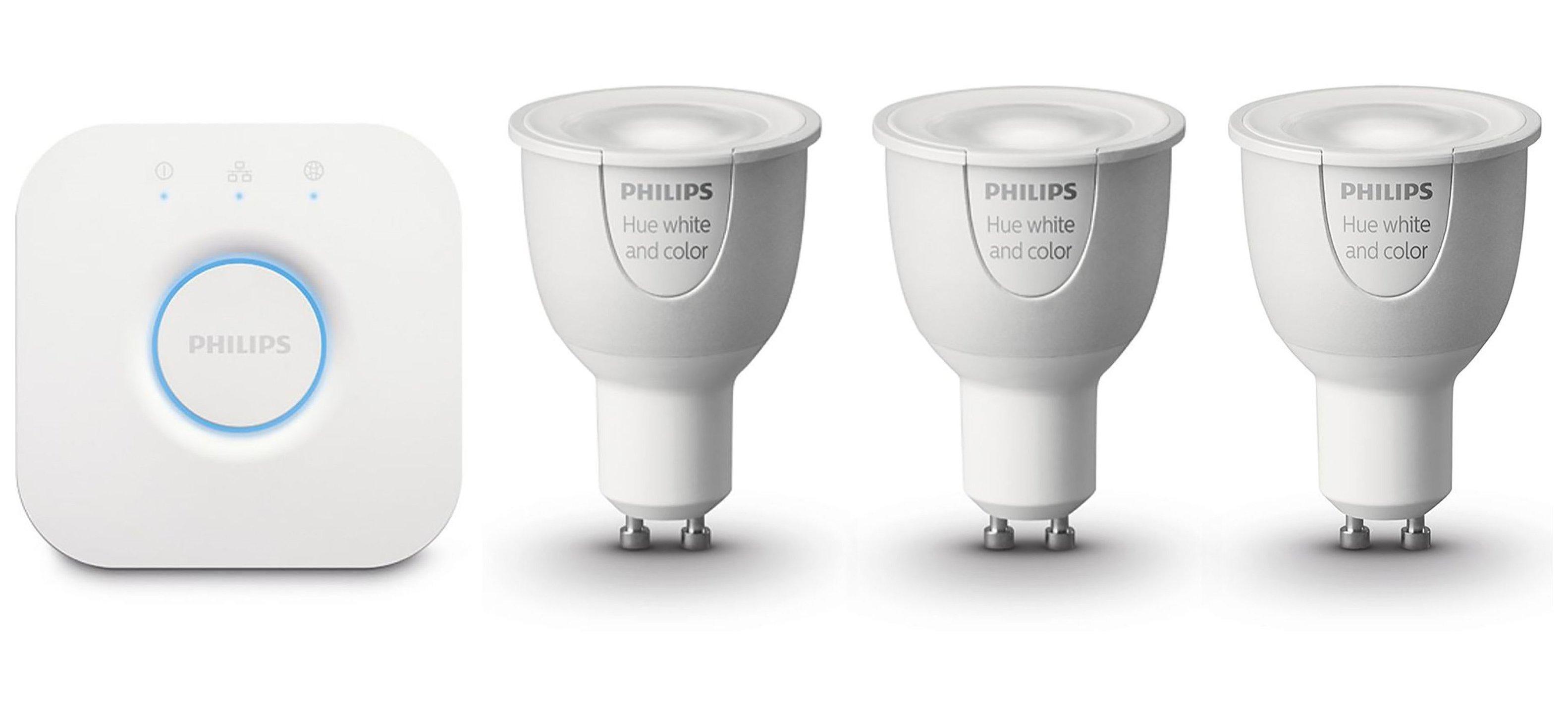 Philips Hue GU10 Bulbs - Set of 3.