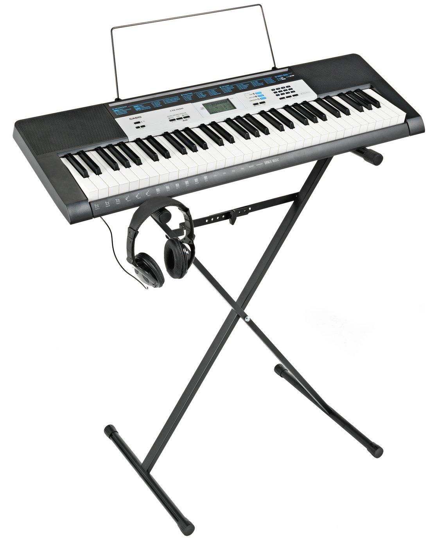 Image of Casio CTK-1550AD Keyboard, Stand & Headphones Bundle