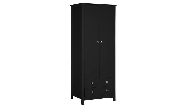Habitat Osaka 2 Door 2 Drawer Wardrobe - Black