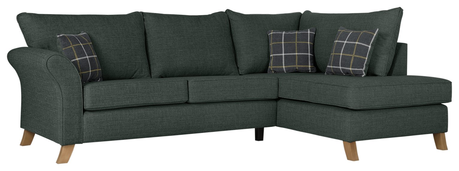 Argos Home Kayla Right Corner Fabric Sofa - Charcoal