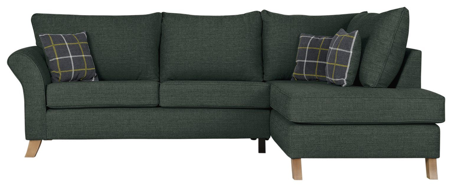 Argos Home - Kayla High Back Right Hand Corner - Sofa - Charcoal