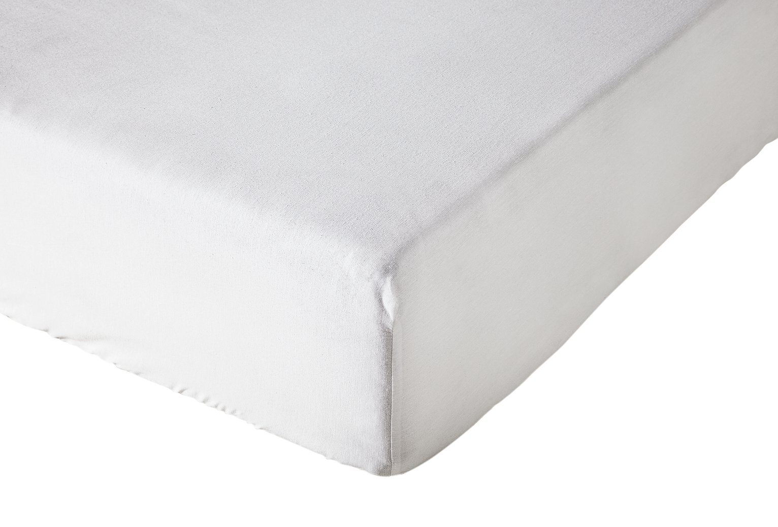 simple value white fitted sheet  double