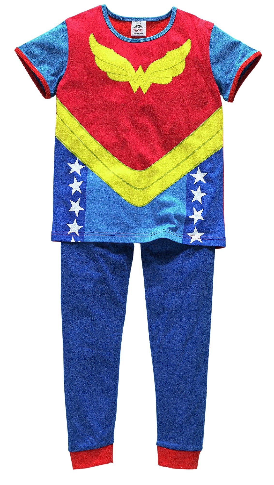 Image of DC - Girls Wonder Woman Cotton Pyjamas - 7-8 Years