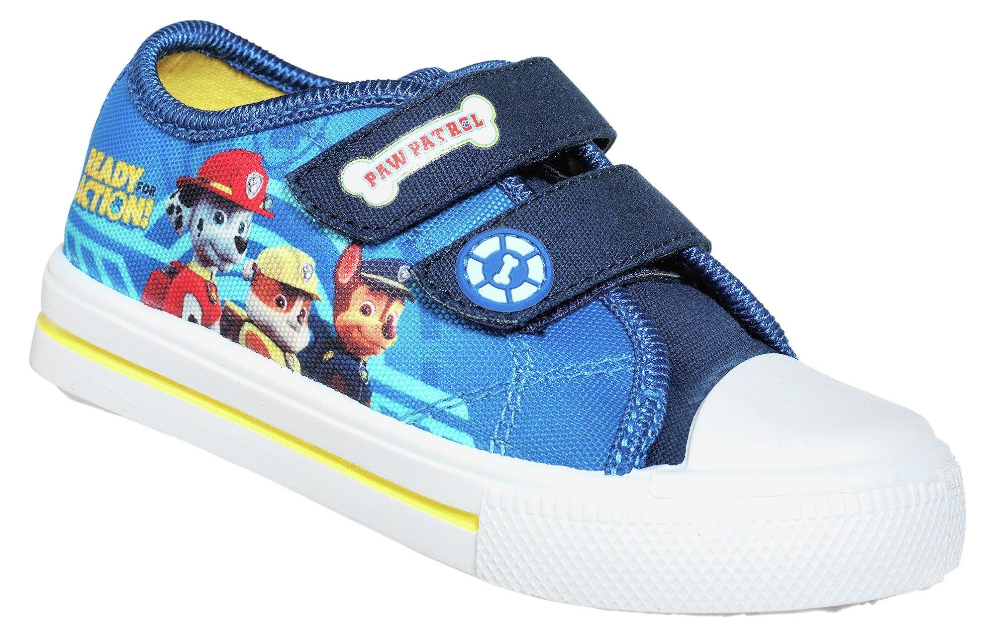 Image of Paw Patrol - Boys Blue Canvas Trainers - Size 6