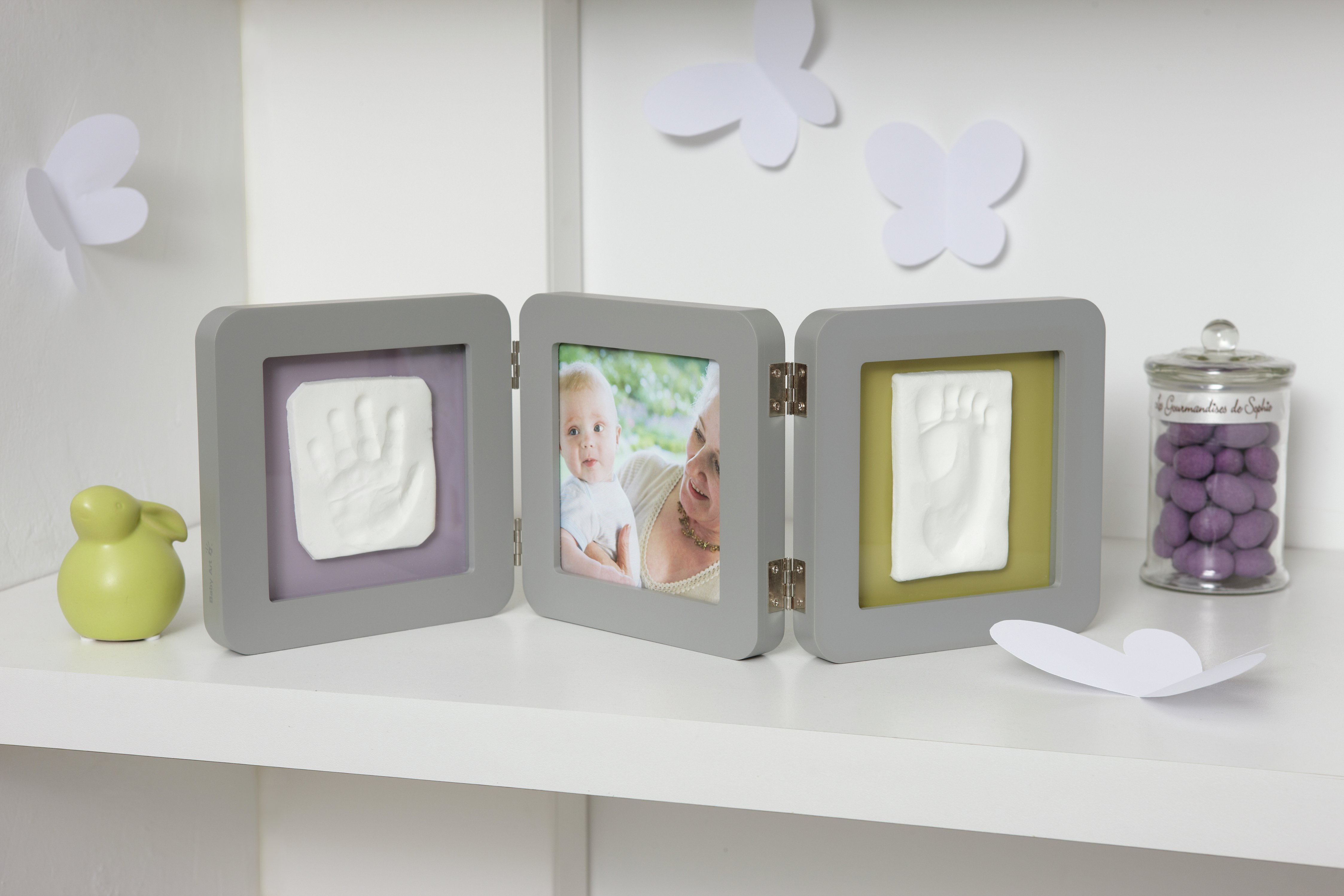 Image of Baby Art - My Baby Touch 2 Print Frame - Grey