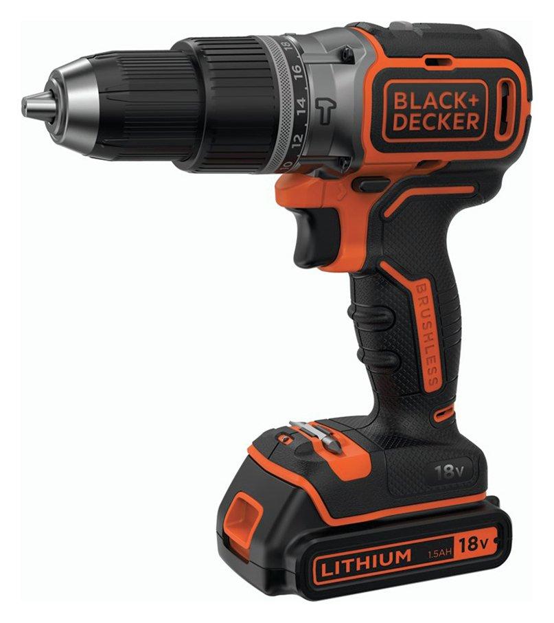 Image of Black & Decker Brushless 1 Battery Hammer Drill - 18V