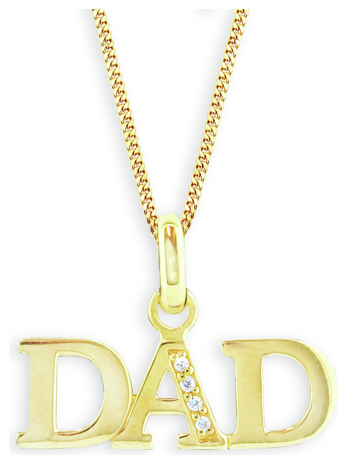 Gold Dad Pendant Jewelry For Men