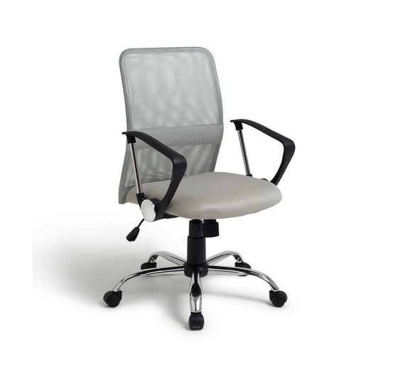 Buy Mesh Gas Lift Mid Back Adjustable Office Chair Grey At Argos - Grey office chair