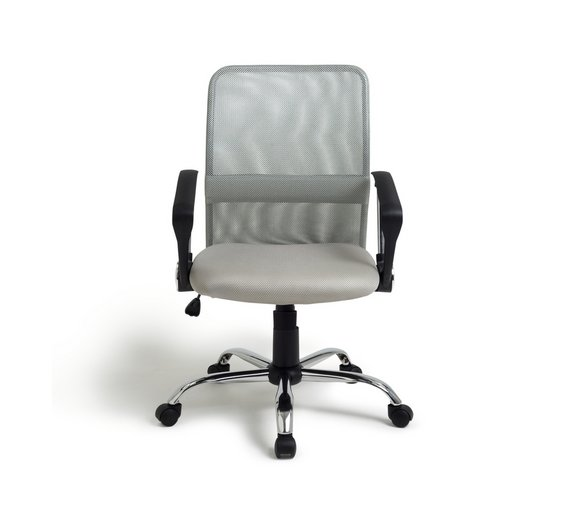 buy argos home grey mesh mid back adjustable office chair office