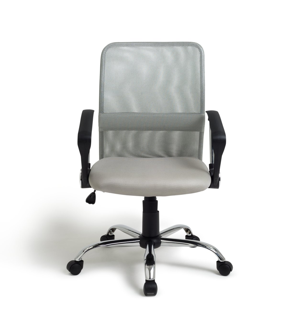 buy mesh gas lift mid back adjustable office chair - grey at argos
