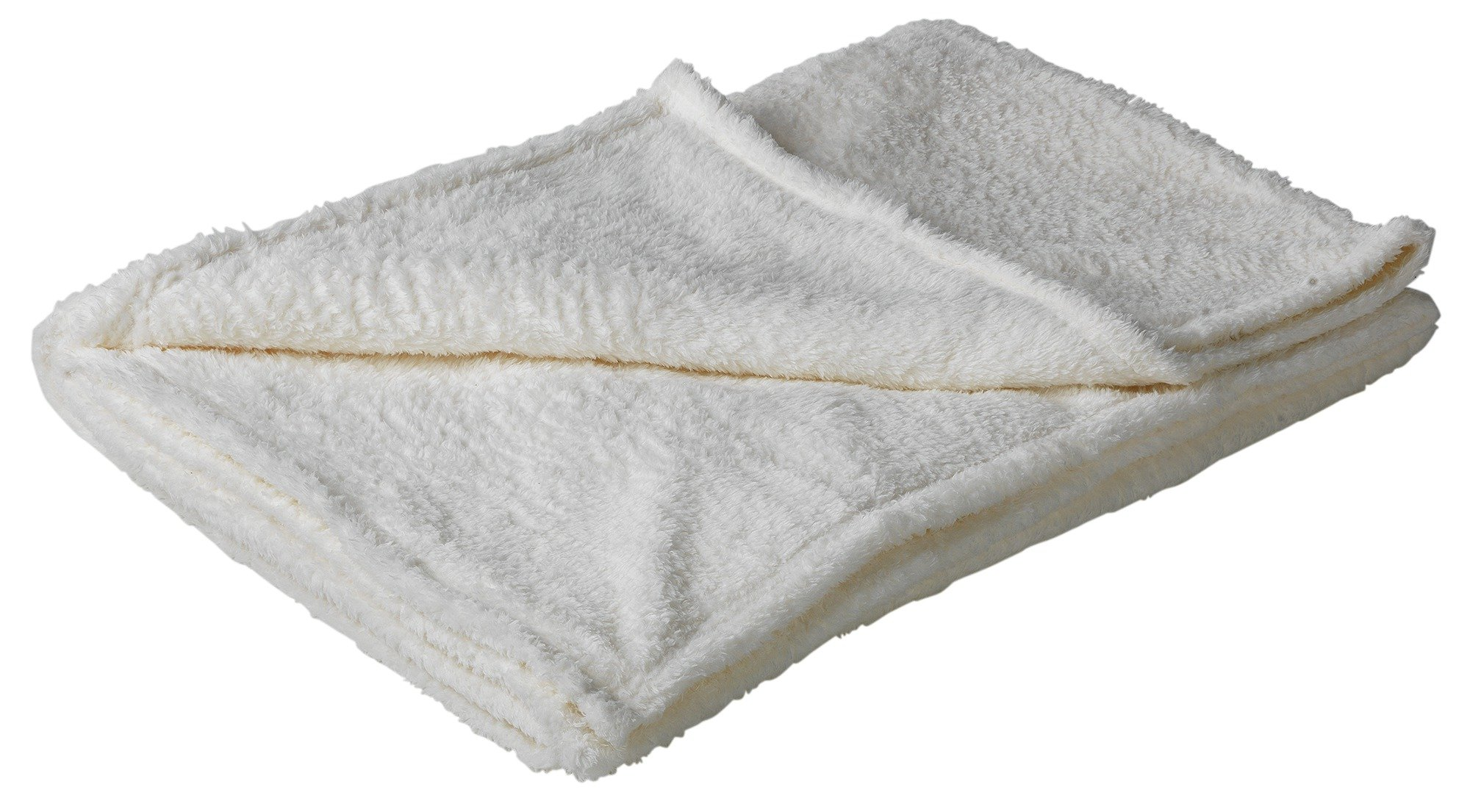 HOME Soft Fleece Throw - Soft Cream