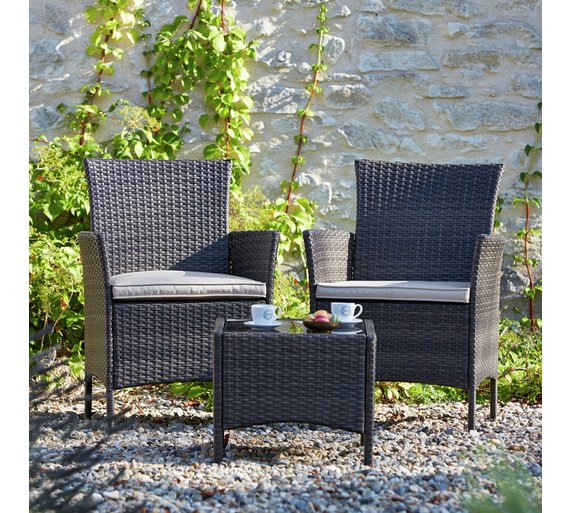 Collection Fiji Rattan Bistro Set   Grey. Buy Collection Fiji Rattan Bistro Set   Grey at Argos co uk   Your