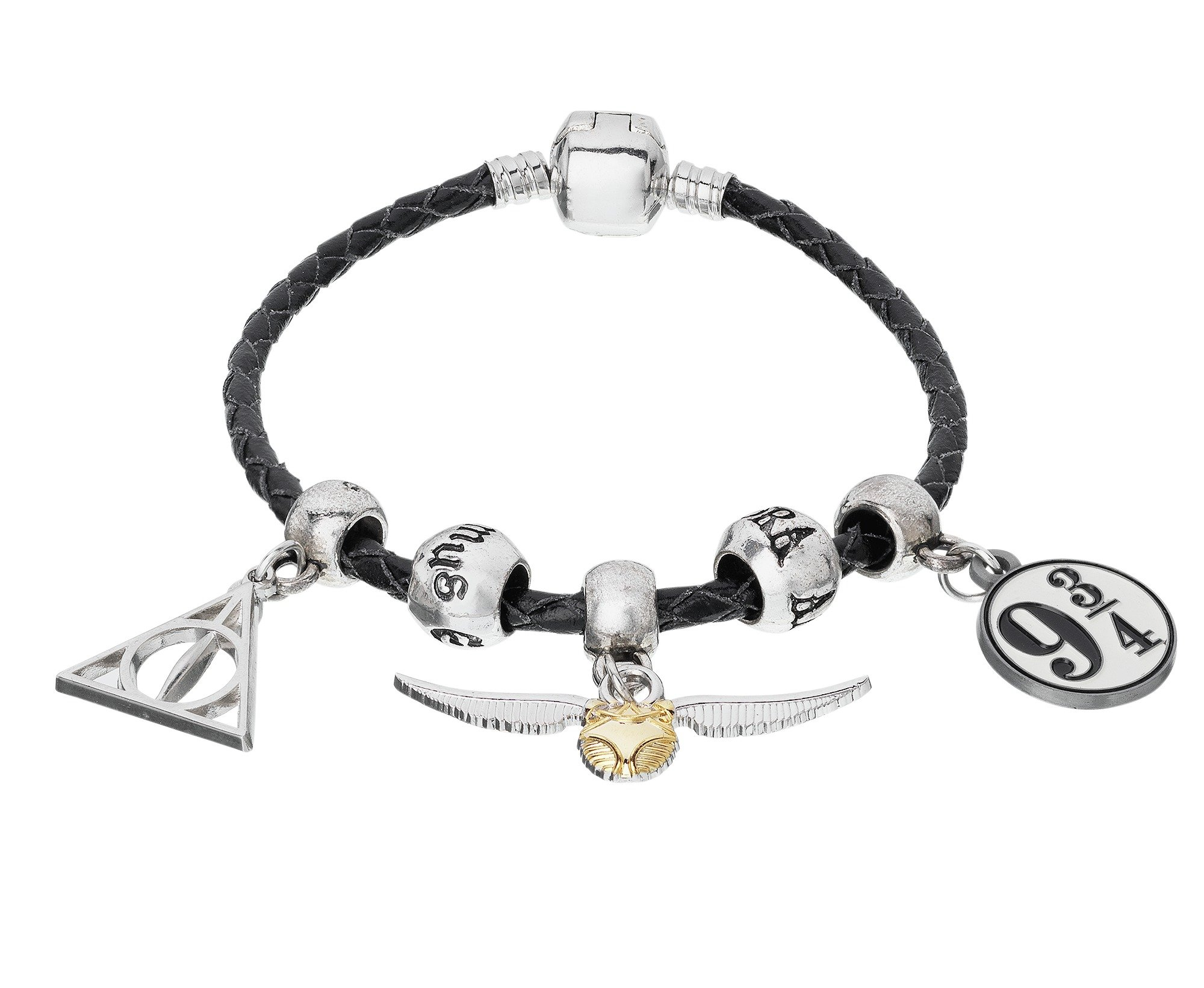 Harry Potter Leather Charm Bracelet
