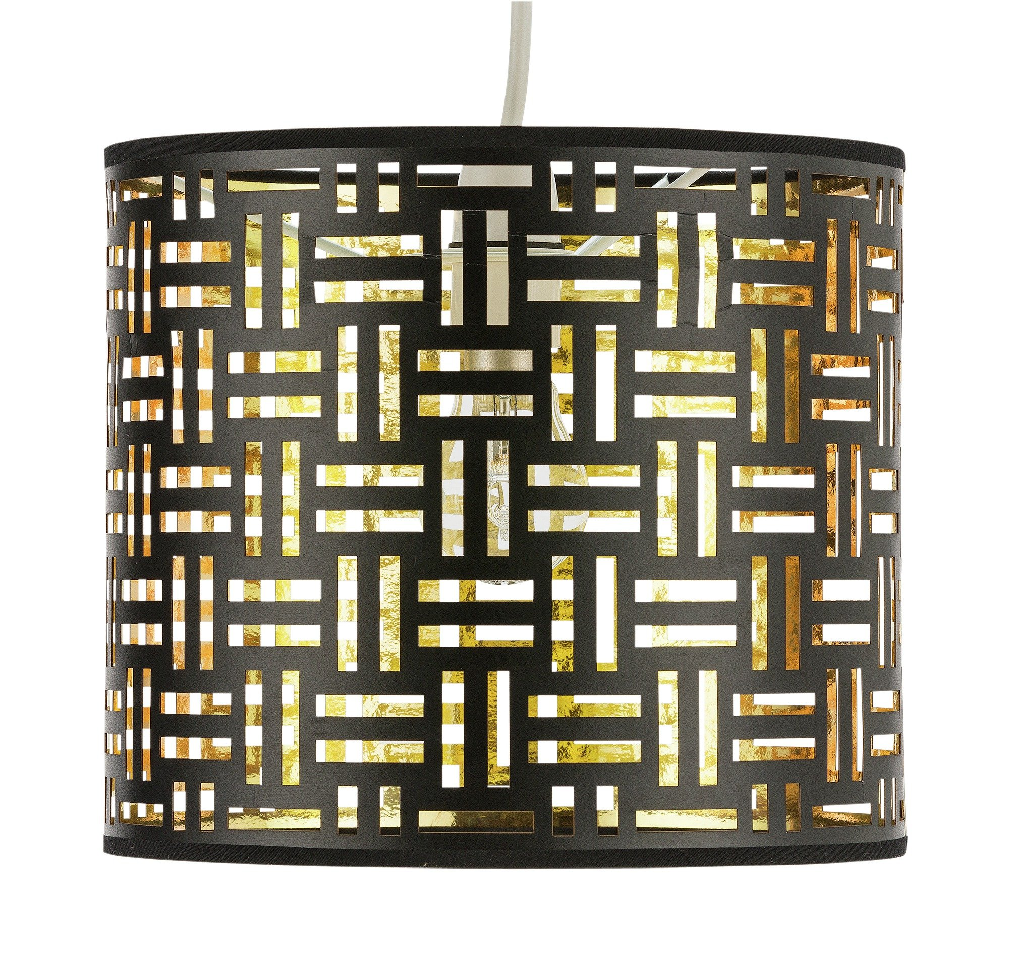 Collection Laser Cut Shade - Black and Gold.