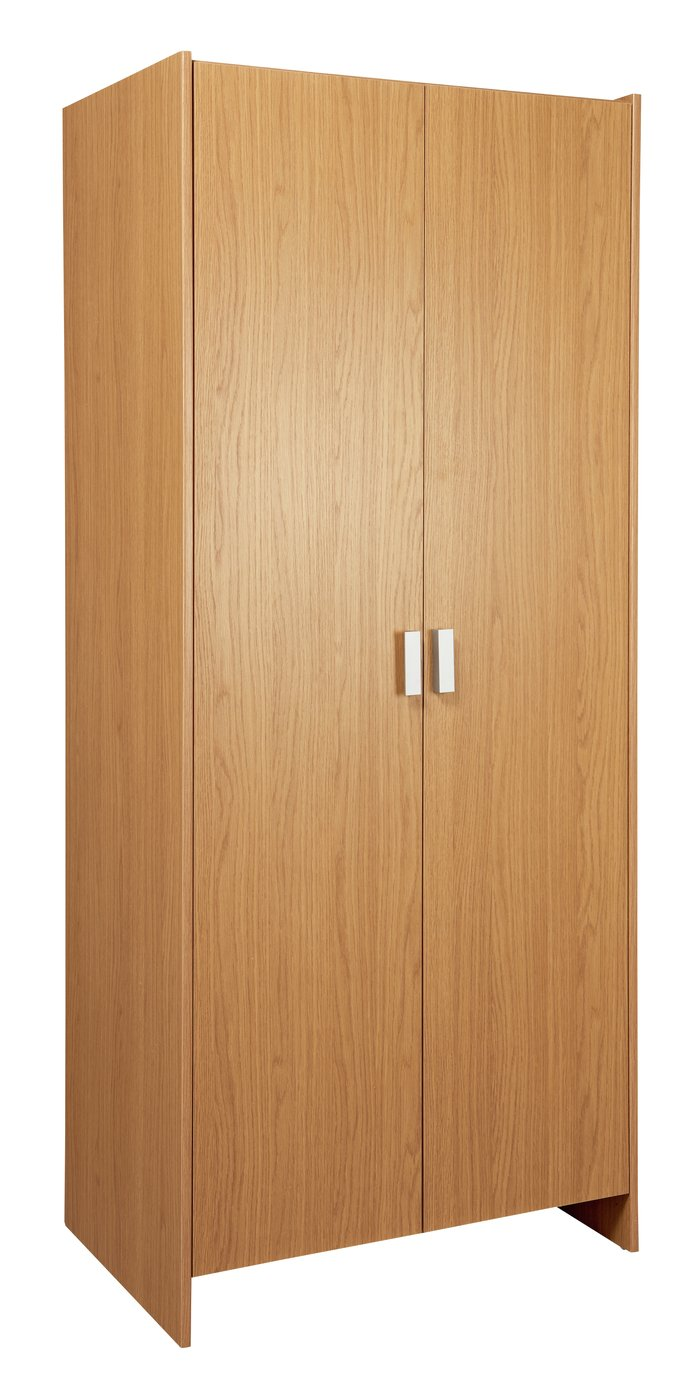 Image of HOME Capella 2 Door Wardrobe - Oak