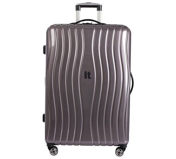 Buy IT Luggage Large Hard 8 Wheel Suitcase - Metallic at Argos.co ...