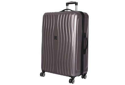 Image of the IT Luggage Large Hard 8 Wheel Suitcase in metallic.