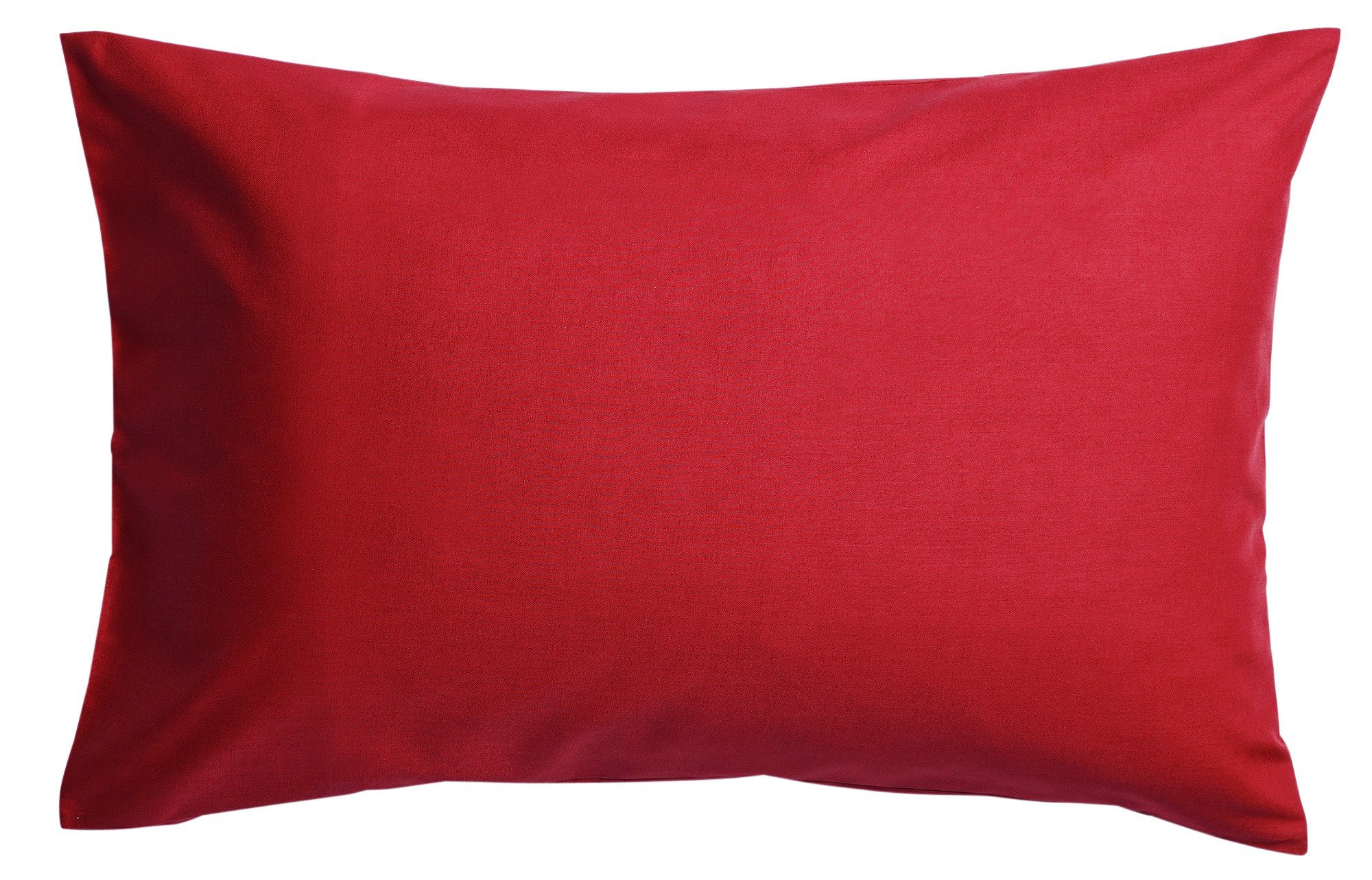 colourmatch pair of housewife pillowcases  poppy red