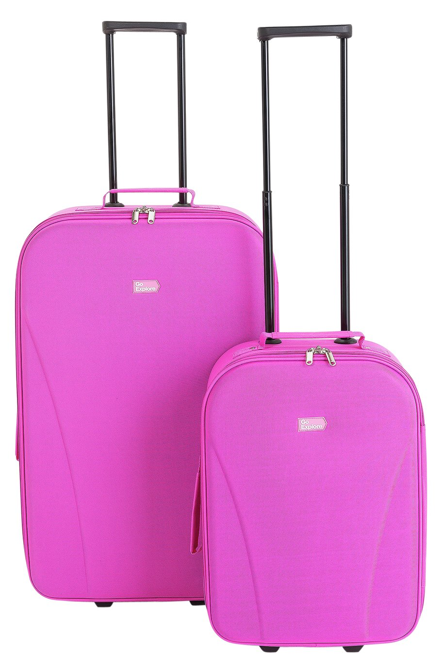 Go Explore 2 piece Soft Luggage Set - Pink lowest price