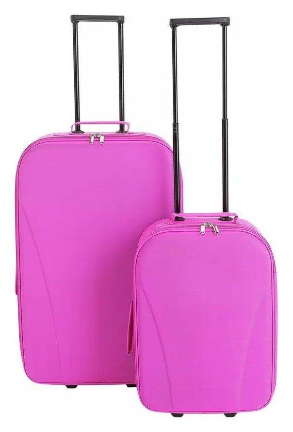 Image of Go Explore 2 Piece Soft 2 Wheeled Luggage Set - Pink