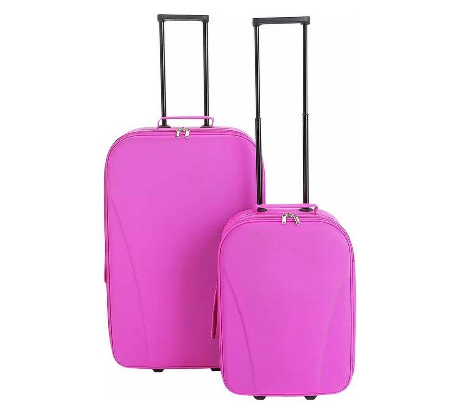 Go Explore 2 Piece Soft 2 Wheeled Luggage Set - Pink
