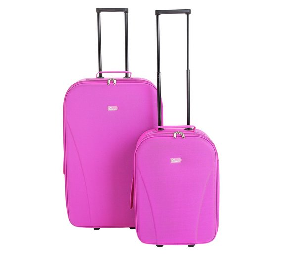 Buy Go Explore 2 piece Soft Luggage Set - Pink at Argos.co.uk ...
