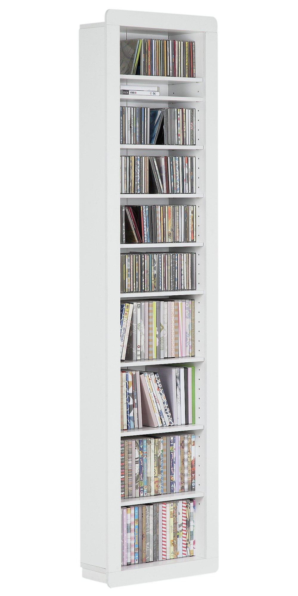 Good HOME Portland CD/DVD Tower   White