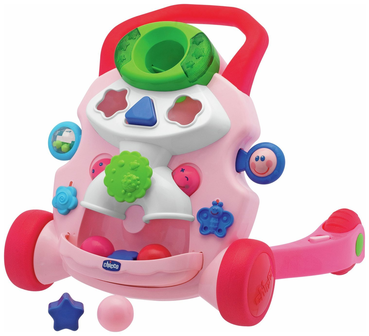 Chicco Baby Steps Activity Baby Walker – Pink