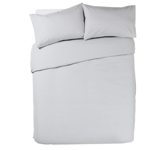 Buy HOME Grey Bedding Set - Double at Argos.co.uk - Your Online ... : quilt covers argos - Adamdwight.com
