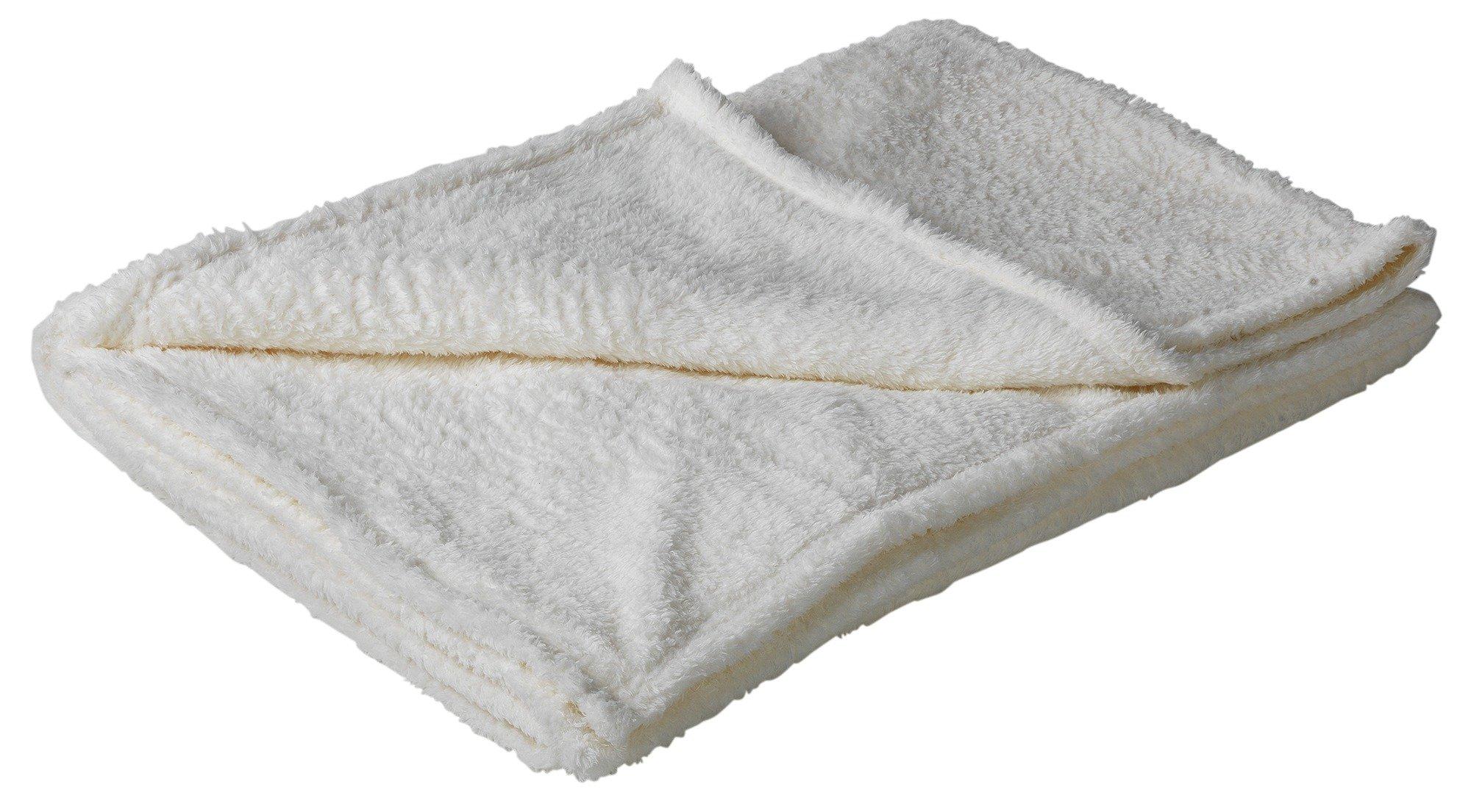 HOME Soft Fleece Throw - Soft Cream