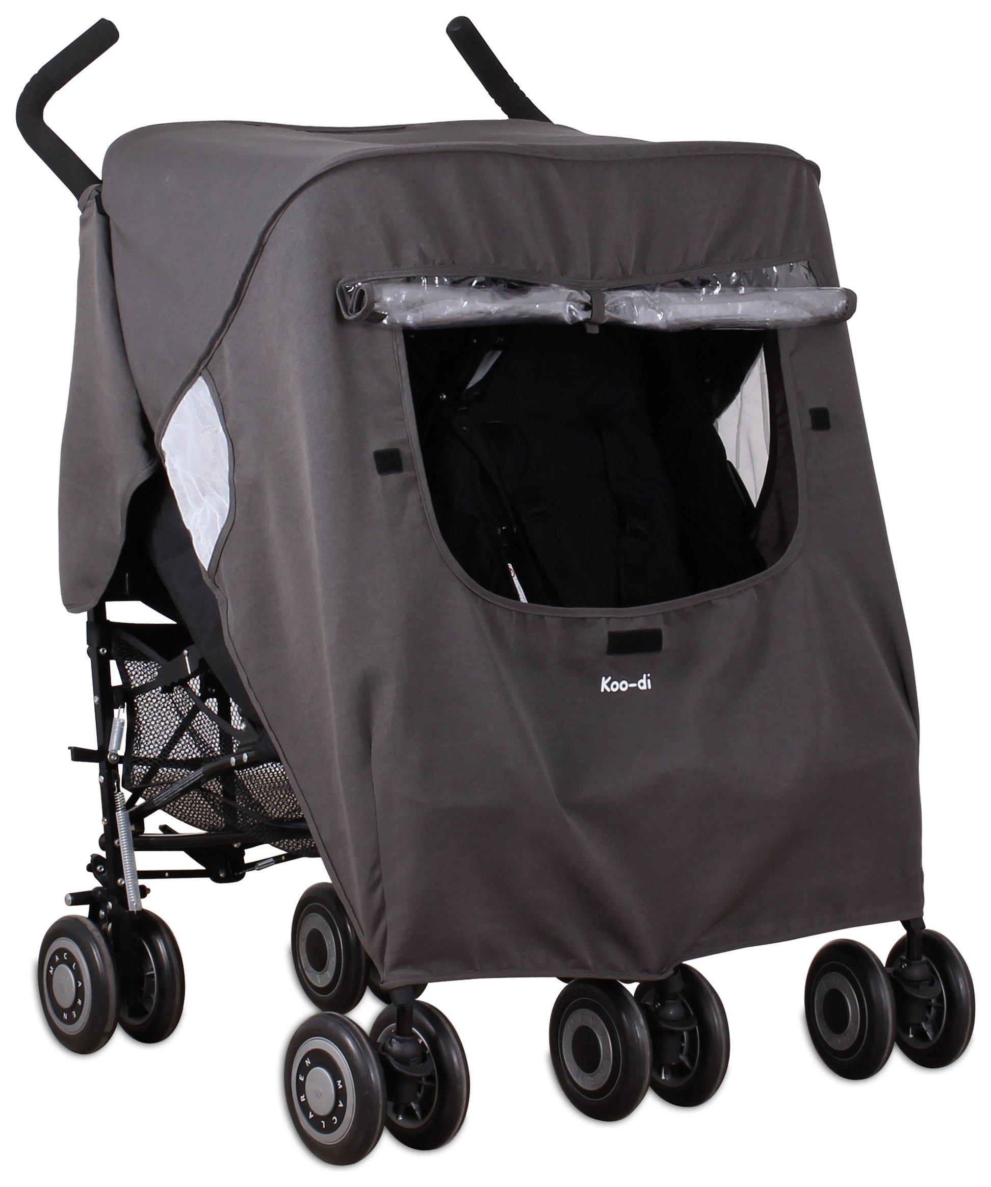 Koo-di Pack-It Double Stroller Rain Cover.