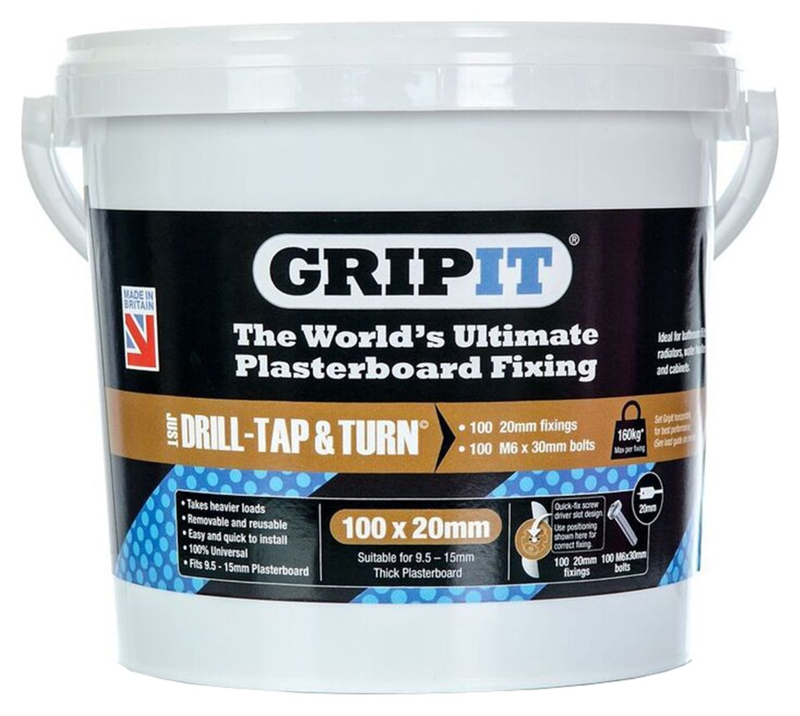 gripit-fixings-tub-of-100-20mm-brown