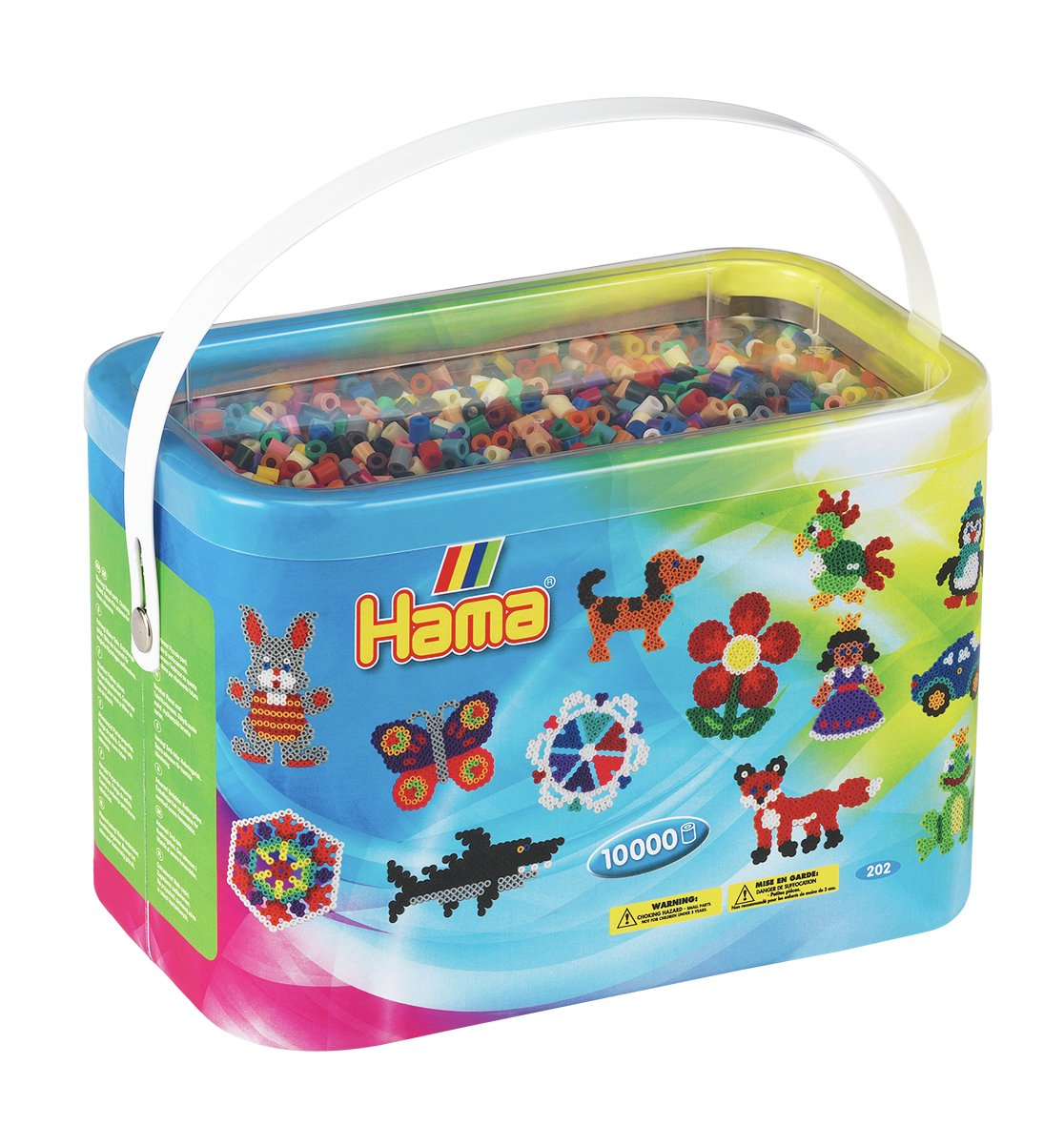 Image of Hama Beads 10,000 Beads and Pegboards Bucket