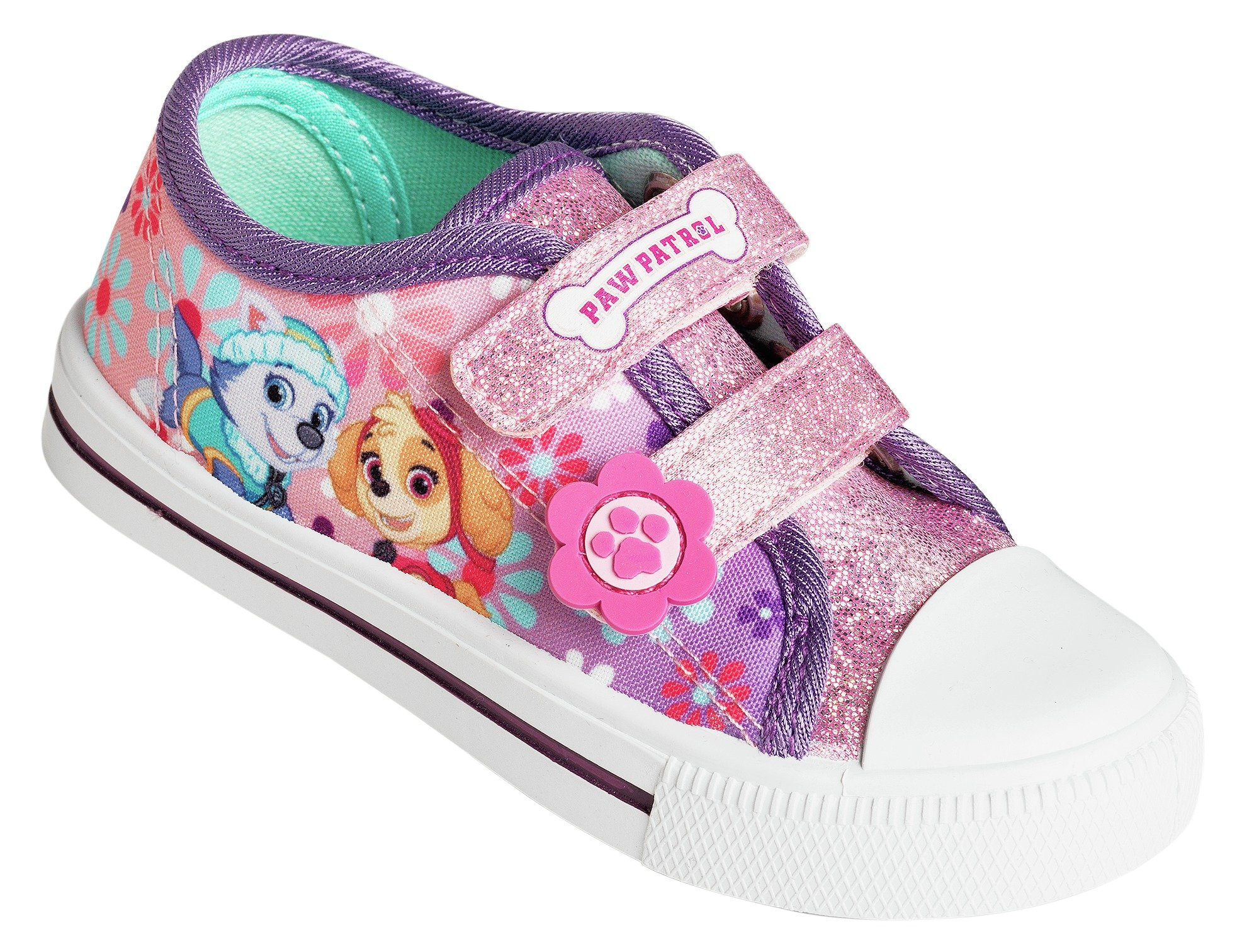 Image of PAW Patrol Pink Canvas Trainers - Size 9