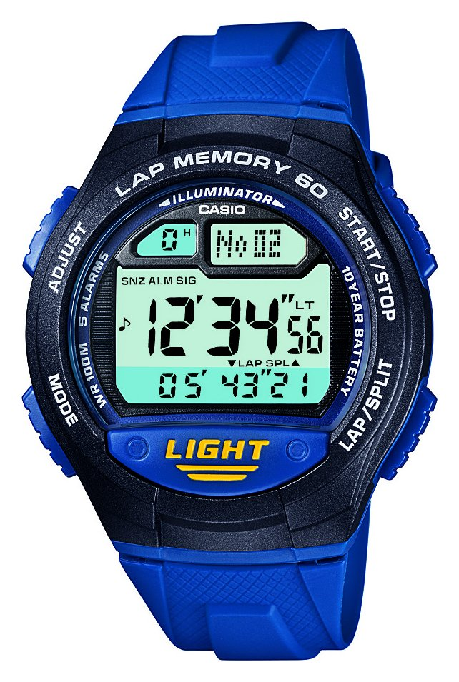 Image of Casio - 60 Lap Memory Blue Strap - Watch