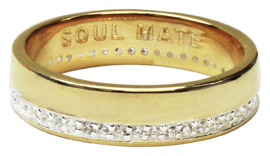 Buy Revere Men s 9ct Gold Plated Silver Soul Mate Ring at Argos