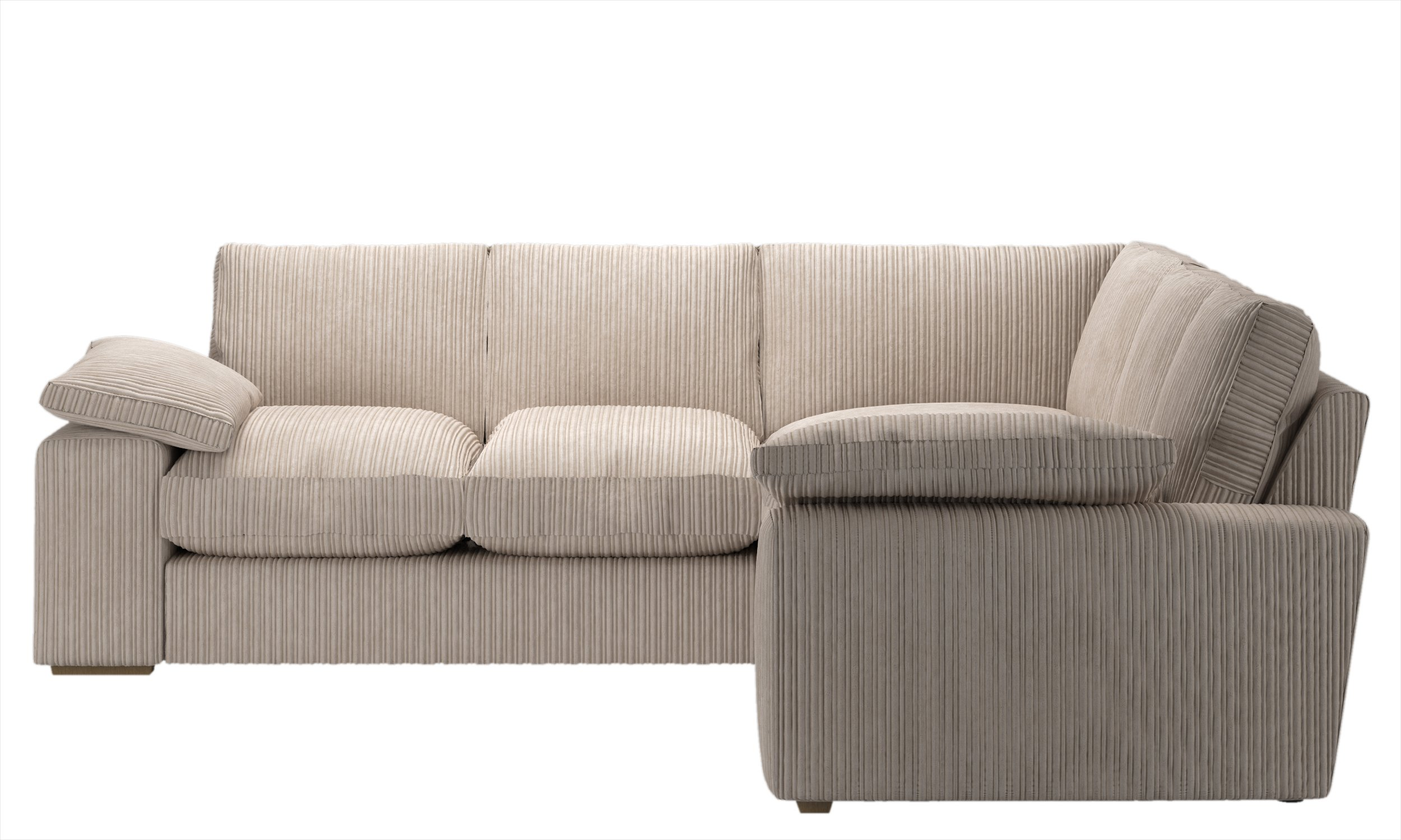 Collection phoebe extra large dual face corner sofa cream for Phoebe corner sofa