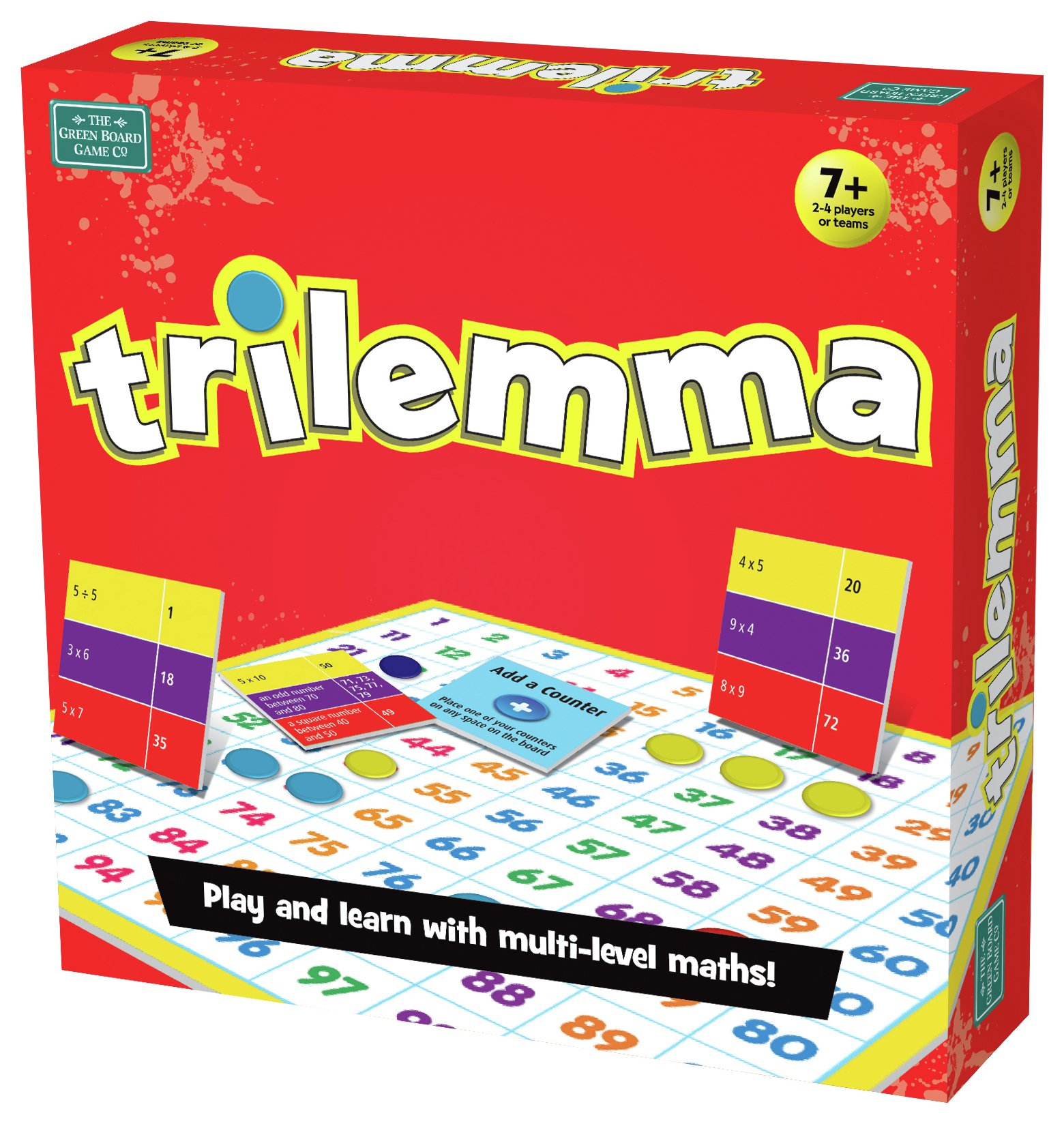 Image of Green Board Games Trilemma Maths Game