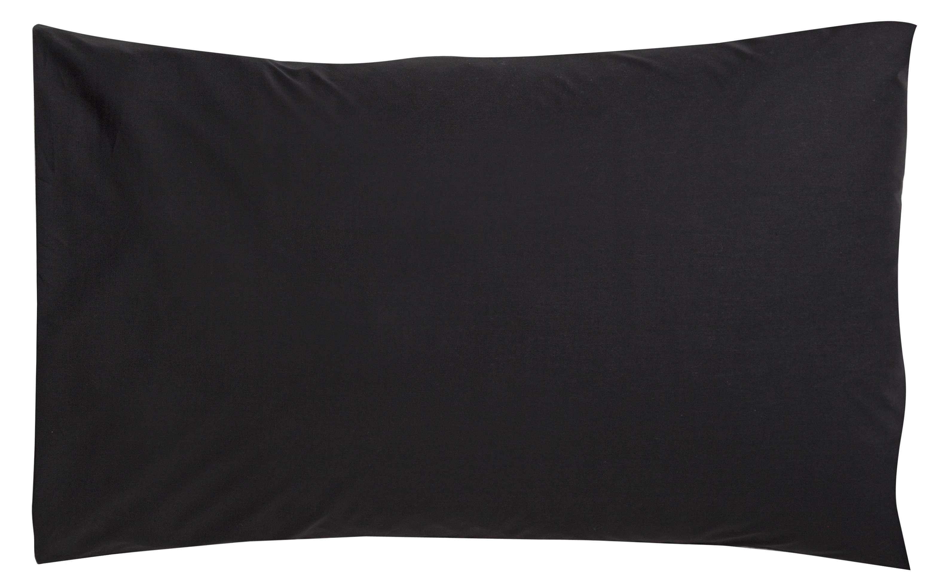 collection pair of non iron housewife pillowcases  black