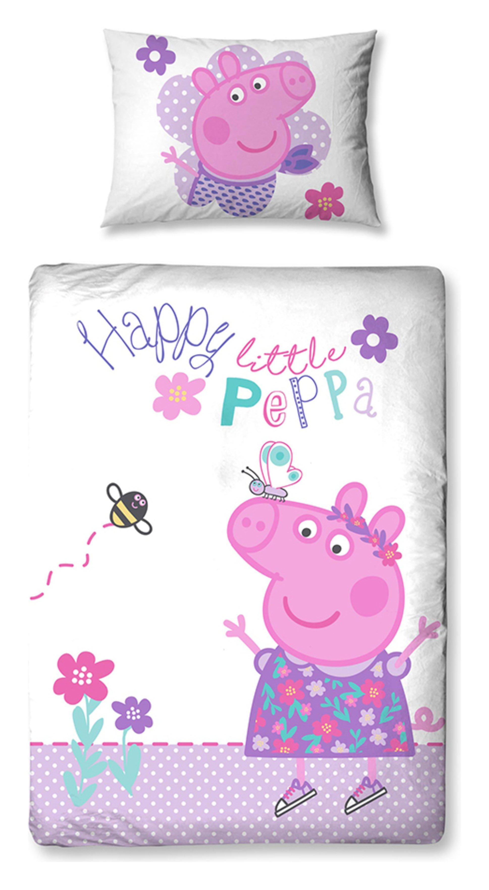peppa pig  happy  bedding set  toddler