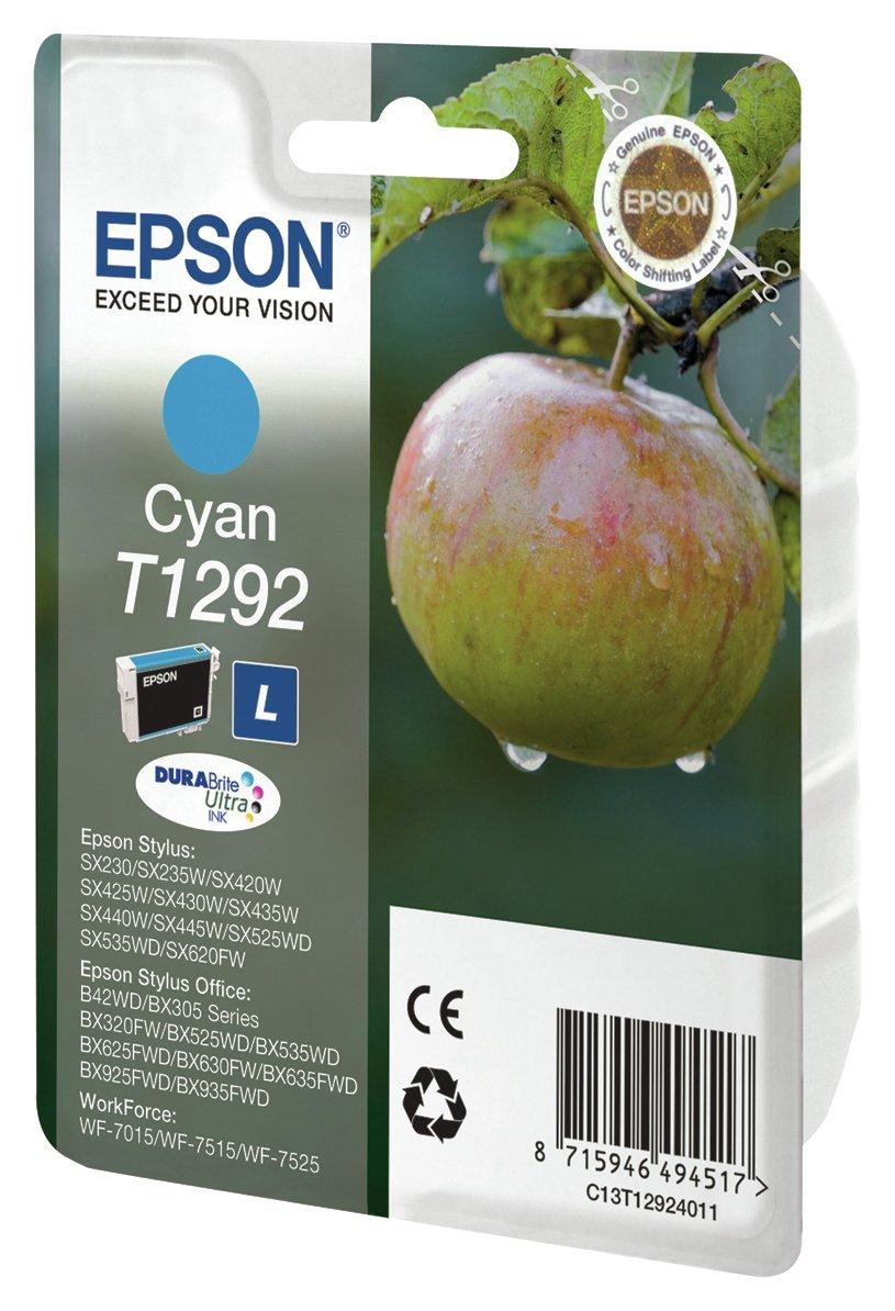Image of Epson - Apple Cyan Ink Printer Cartidge