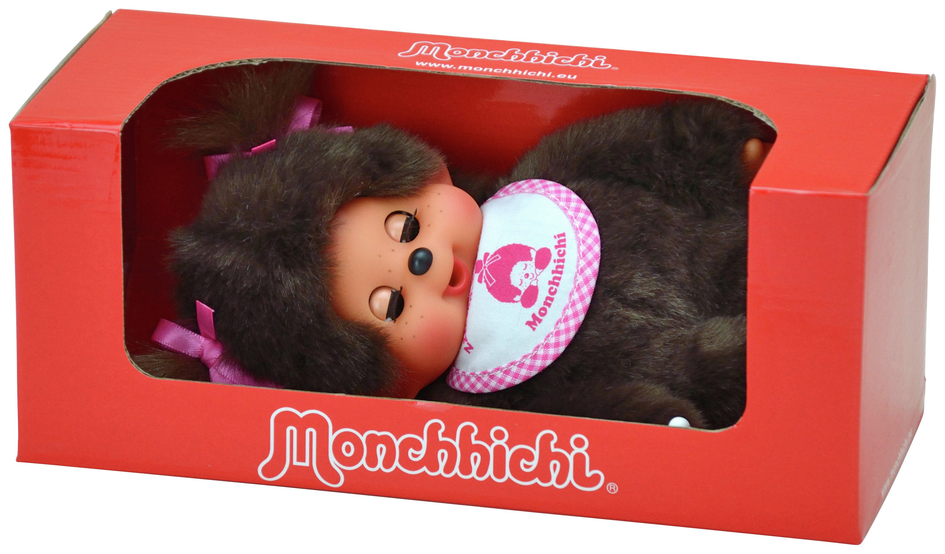 Bandai Monchhichi Sleeping Girl Plush Doll.