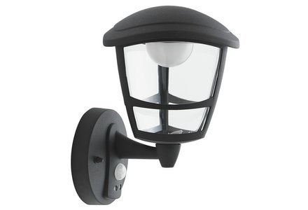 Image of Collection Silbury LED PIR Lantern - Black.