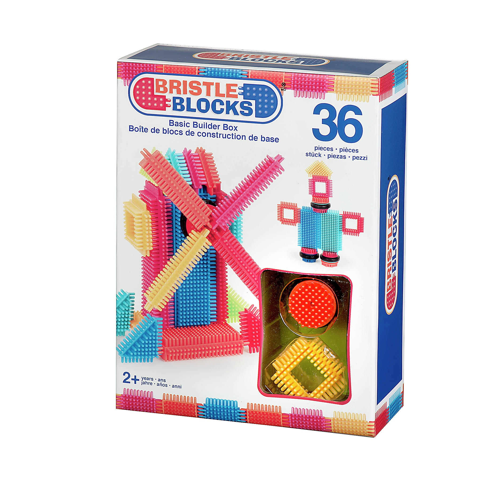 Image of Bristle Blocks - Basic Builder Box - 36 Pieces